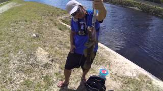 Super Rare Bigmouth Sleeper Caught Fishing a Florida Canal