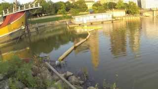 Huge Crappie Caught while Bass Fishing at the Scioto River